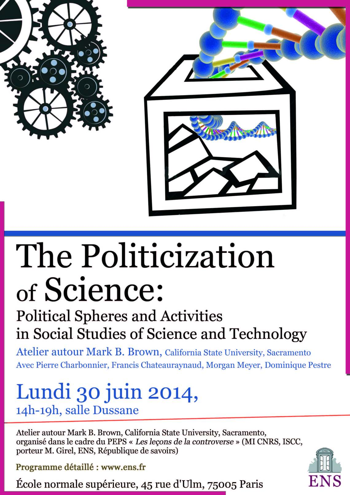 Juin 2014 Affiche Politicization of Science